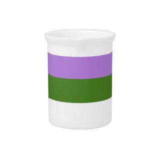 Genderqueer pride flag drink pitcher