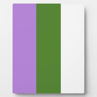 Genderqueer pride flag plaque
