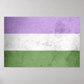 Genderqueer Pride Flag Poster
