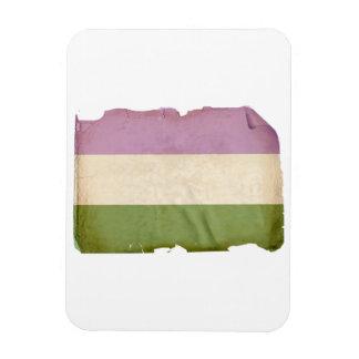 GENDERQUEER PRIDE FLAG - Vintage Vinyl Magnet