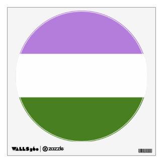 GENDERQUEER PRIDE FLAG WALL STICKER