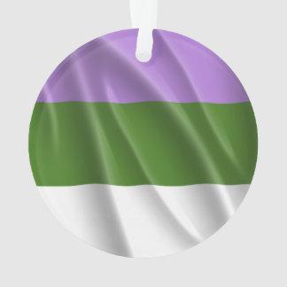 GENDERQUEER PRIDE FLAG WAVY DESIGN - 2014 PRIDE.pn