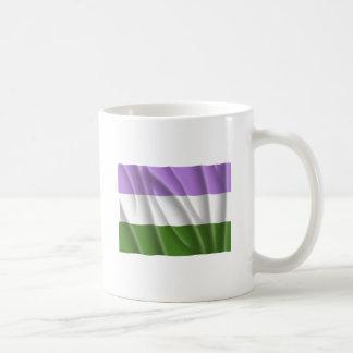 GENDERQUEER PRIDE FLAG -Wavy Classic White Coffee Mug