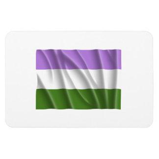 GENDERQUEER PRIDE FLAG -Wavy Flexible Magnet