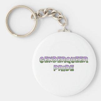Genderqueer Pride Keychain
