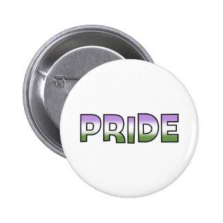 Genderqueer Pride Pinback Button