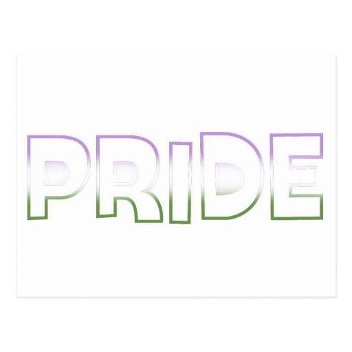 Genderqueer Pride Post Cards