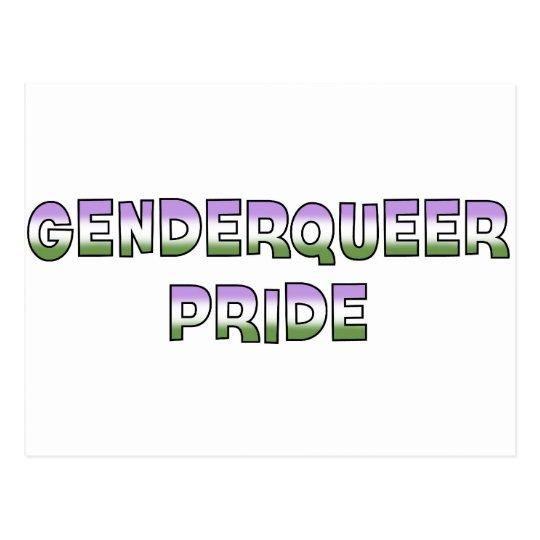 Genderqueer Pride Postcard