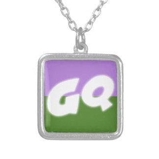 Genderqueer Pride Silver Plated Necklace