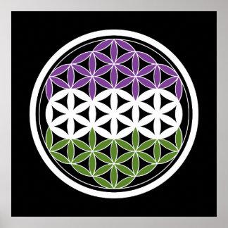genderQueer sacred geometry Poster