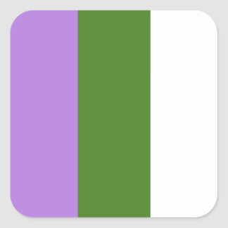 Genderqueer stickers - rounded