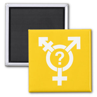 GENDERQUEER SYMBOL WHITE MAGNETS