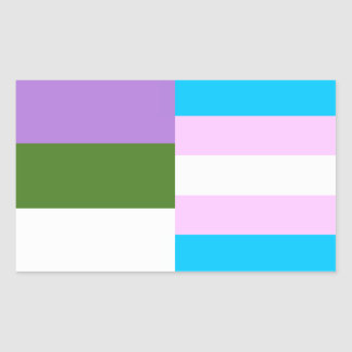 Genderqueer/trans pride flags sticker
