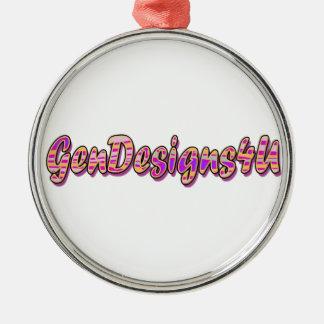 Gendesigns4 u metal ornament