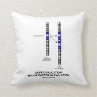 Gene Duplication: Major Factor In Evolution Throw Pillow