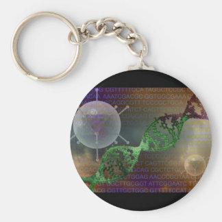 Gene therapy basic round button keychain