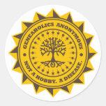 Geneaholics Anonymous Round Sticker