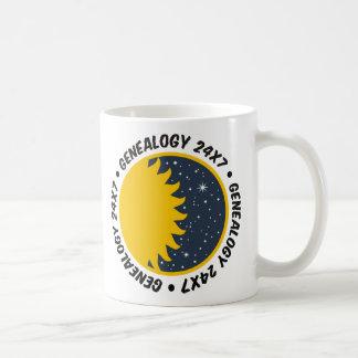 Genealogía 24x7 tazas de café