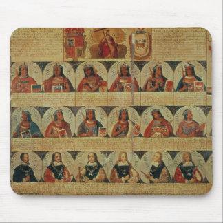 Genealogía de los reglas del inca y de su español tapete de ratón