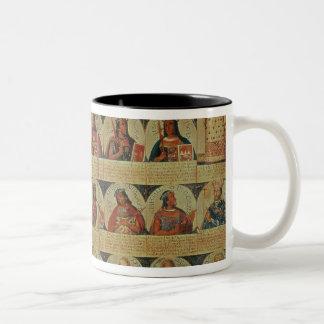 Genealogía de los reglas del inca y de su español taza dos tonos