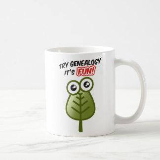 Genealogía del intento taza de café