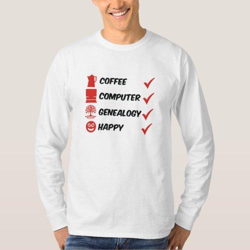 Genealogía del ordenador del café feliz playera