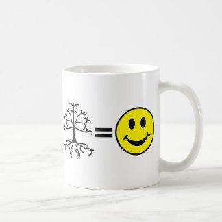 Genealogía del ordenador del café feliz taza básica blanca