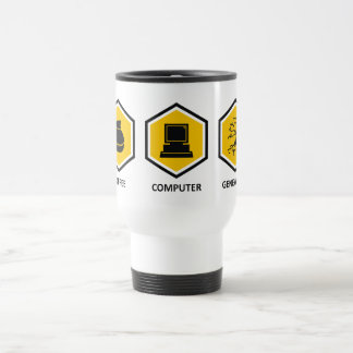 Genealogía del ordenador del café taza de café
