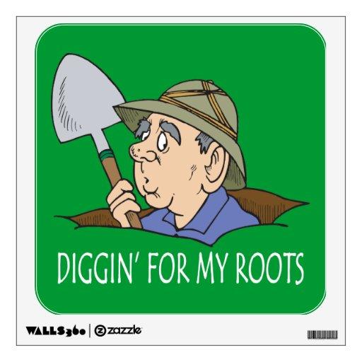 Genealogía - Diggin para mis raíces Vinilo Adhesivo