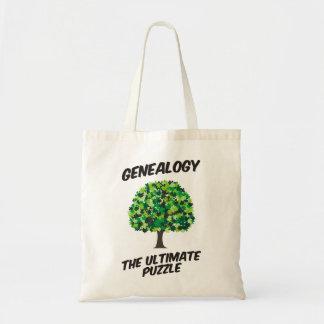 Genealogía - el último rompecabezas bolsa tela barata
