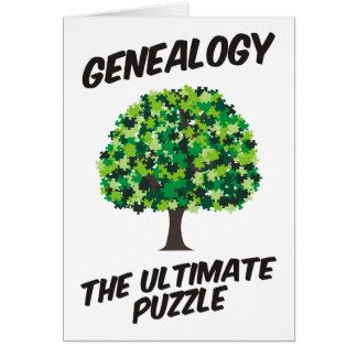 Genealogía - el último rompecabezas tarjeta de felicitación