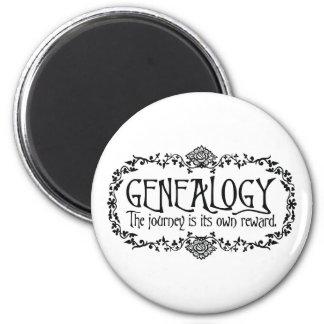 Genealogía El viaje es su propia recompensa Imán De Frigorífico