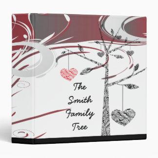 genealogía elegante del corazón del árbol de famil