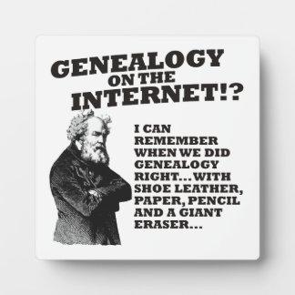 ¿Genealogía en el Internet? Placa De Plastico