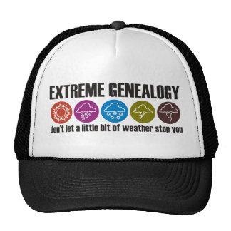 Genealogía extrema gorros bordados