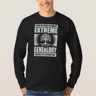 Genealogía extrema - ninguna piedra Unturned Playera
