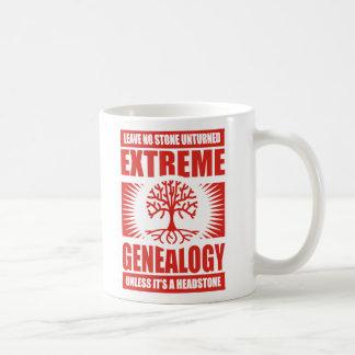 Genealogía extrema - ninguna piedra Unturned Taza Básica Blanca