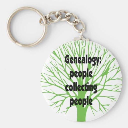Genealogía: Gente que recoge a gente Llavero Redondo Tipo Pin