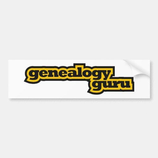 Genealogía Guru Pegatina De Parachoque