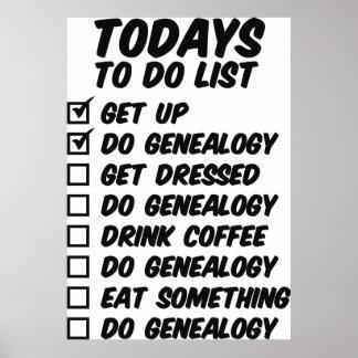 Genealogía para hacer la lista posters