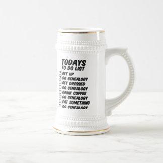 Genealogía para hacer la lista tazas de café