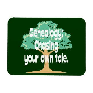 Genealogía: Persecución de su propio cuento Imán Rectangular