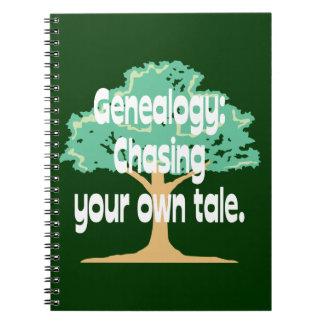 Genealogía: Persecución de su propio cuento Cuaderno