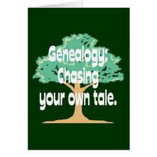 Genealogía: Persecución de su propio cuento Tarjeta De Felicitación