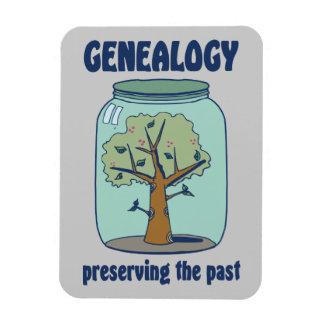 Genealogía que preserva el pasado imanes flexibles