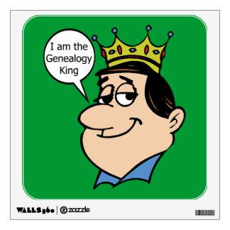 Genealogía - soy el rey de la genealogía vinilo decorativo