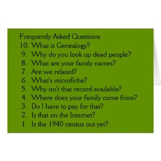 Genealogía - tarjeta en blanco