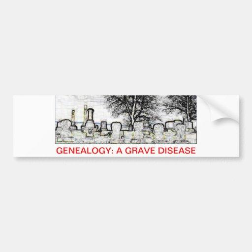 GENEALOGÍA:  UNA ENFERMEDAD GRAVE PEGATINA DE PARACHOQUE