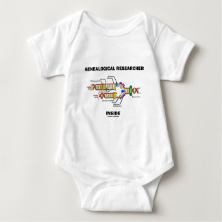 Genealogical Researcher Inside (DNA Replication) Baby Bodysuit