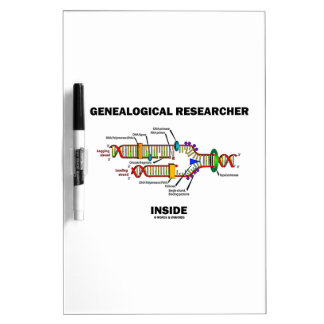 Genealogical Researcher Inside DNA Replication Dry Erase Whiteboards